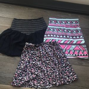 Three cute skirts excellent condition H&M and othe